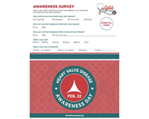 Downloadable Awareness Survey Form